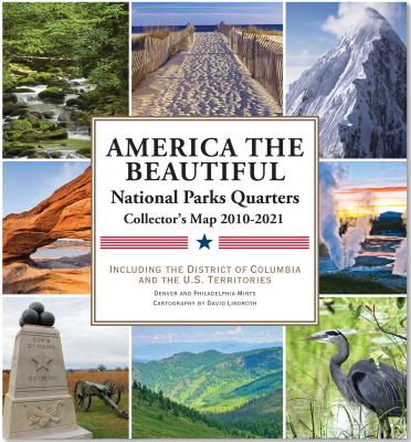 America the Beautiful - National Parks Quarters Collector Map 2010-2021 By Lindroth, David (EDT)